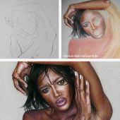 Naomi Campbell Wip Collage