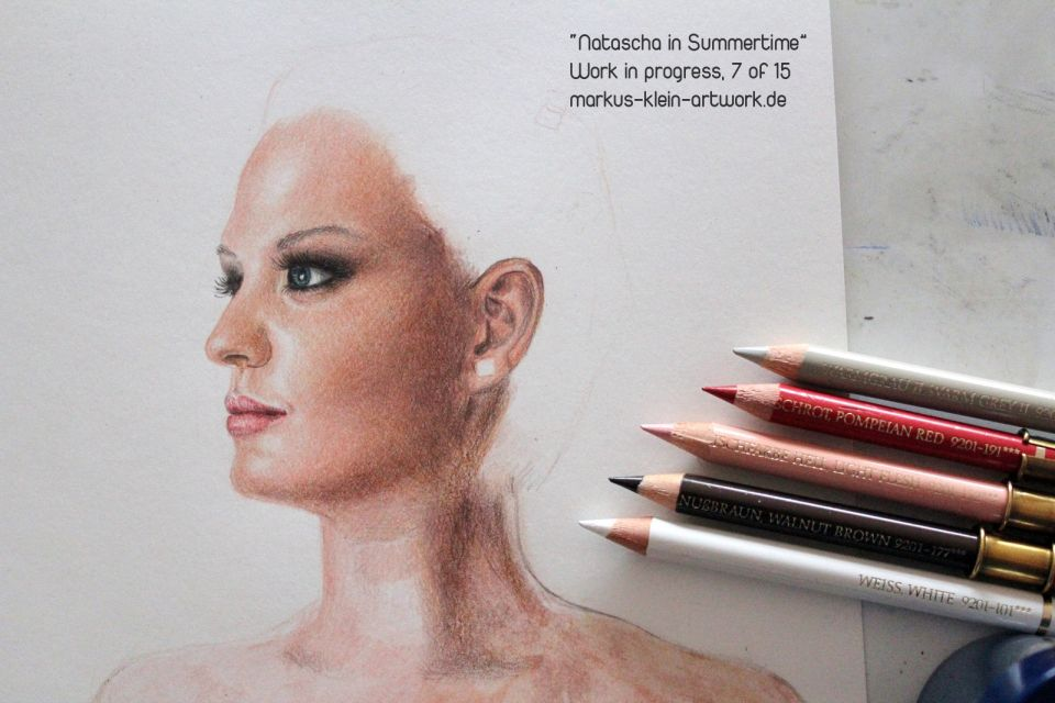 Markus Klein Drawing Skin Tutorial Natascha In Summertime